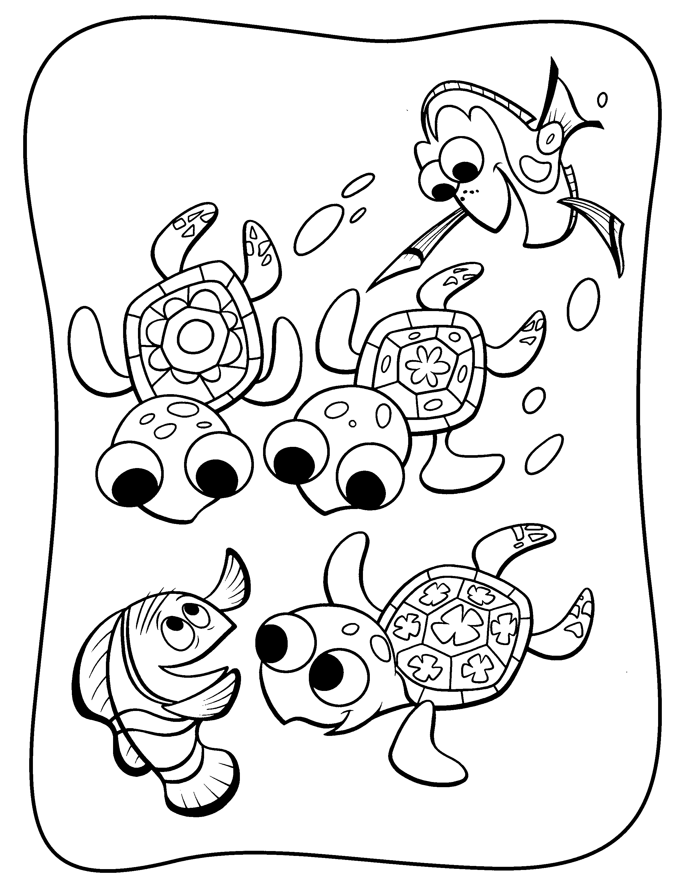 nemo and dory coloring pages | readily a shark coloring the other ...
