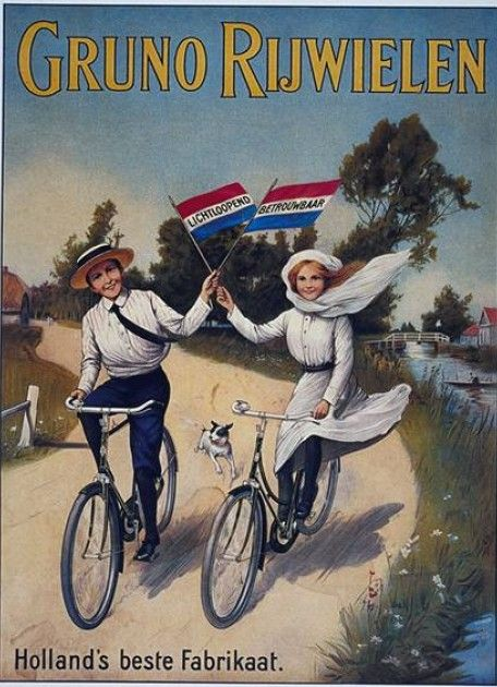 Bicycle vintage advert | Cycles retro poster