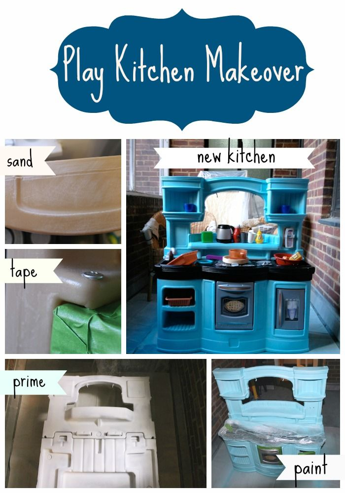 Plastic Play Kitchen Step 2 play kitchen makeover | plays, kitchens and playrooms