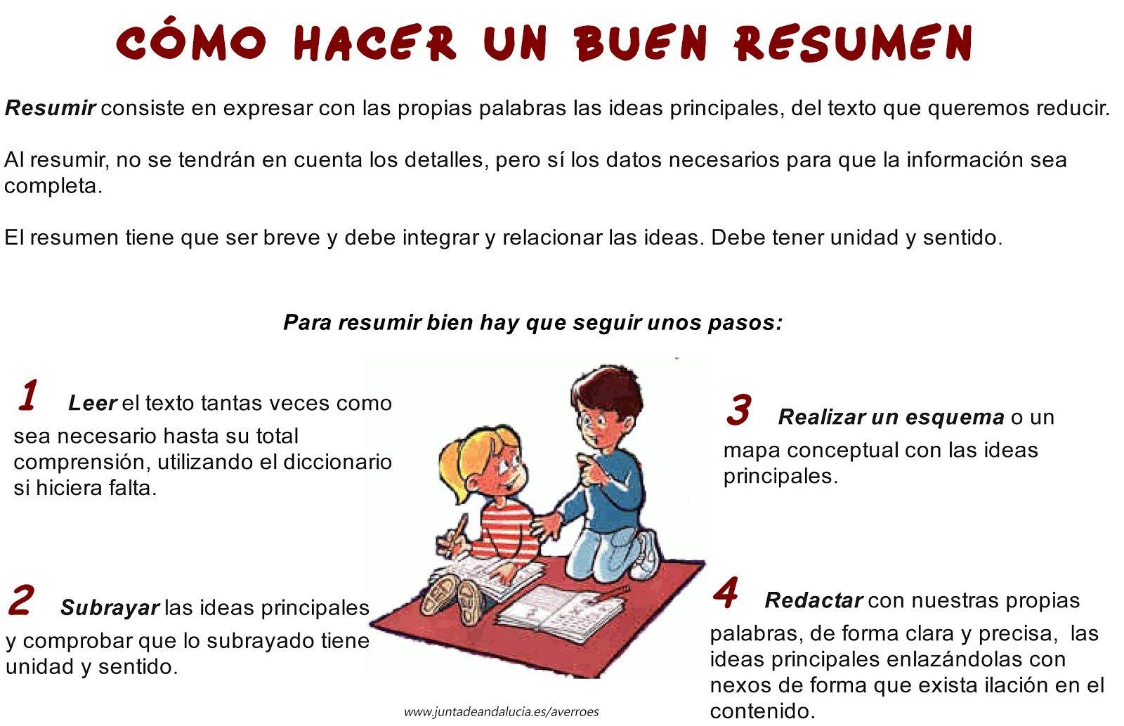 Cómo hacer un buen resumen para estudiar mejor #resumir | Hábitos de ...