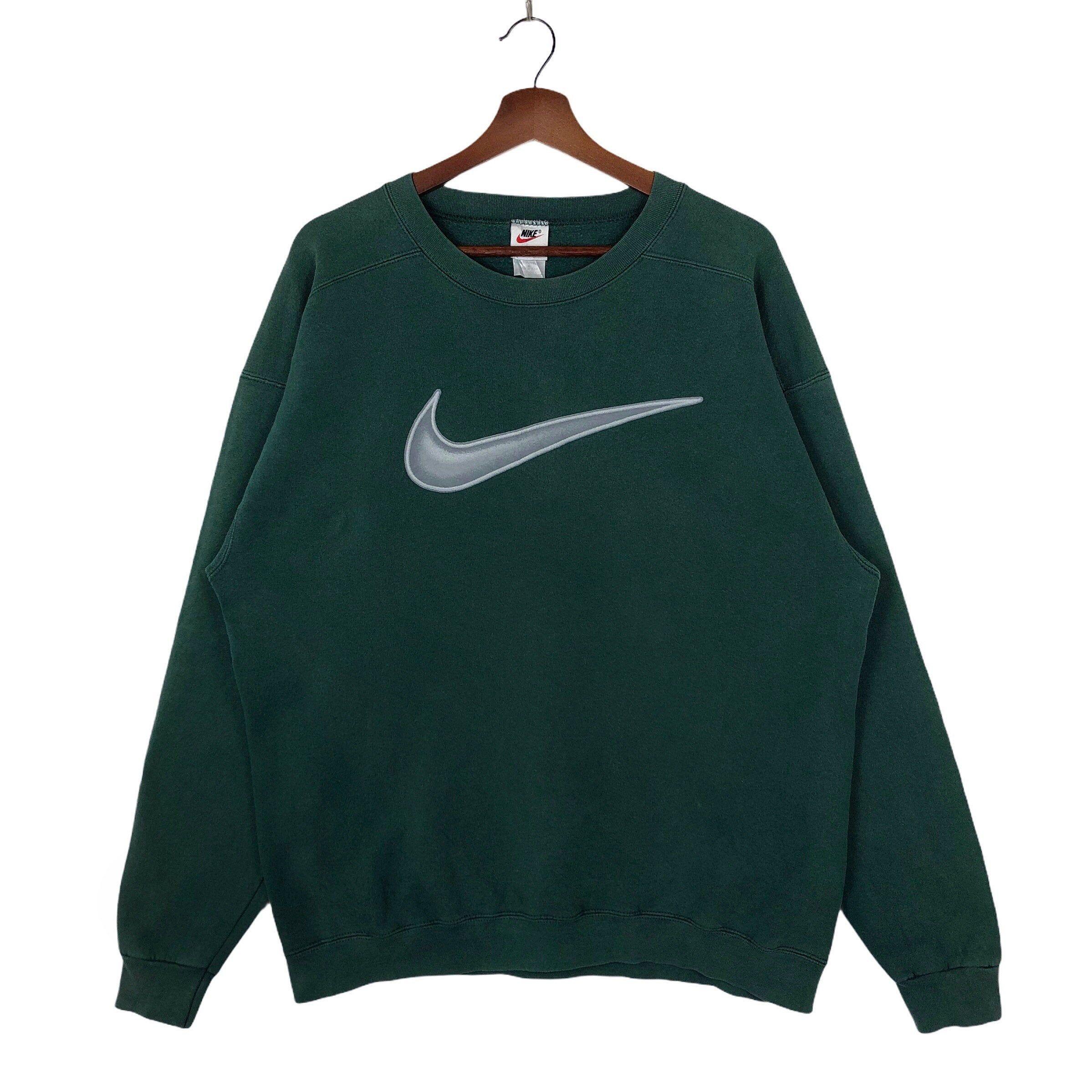 Vintage Green Nike Sweatshirt Crewneck Neon Nike Swoosh Big Logo Nike Vintage Sweatshirt Pullover Jumper Made In Usa Vintage Sweatshirt Vintage Nike Sweatshirt Sweatshirts [ 2398 x 2398 Pixel ]