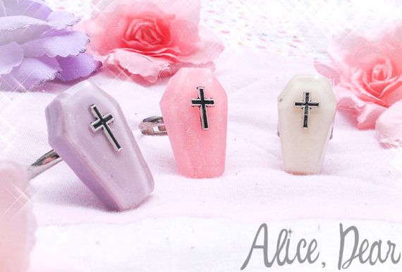 Pastel Coffin Ring by AliceDearArts on Etsy, $10.20
