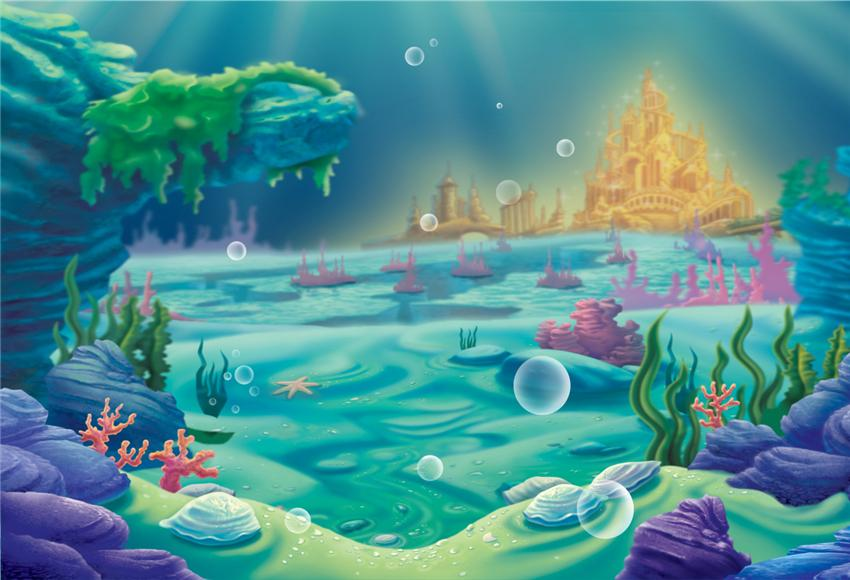 Undersea Gold Castle Baby Show Backdrops For Party Starbackdrop Mermaid Background Backdrops Backgrounds Studio Backdrops Backgrounds