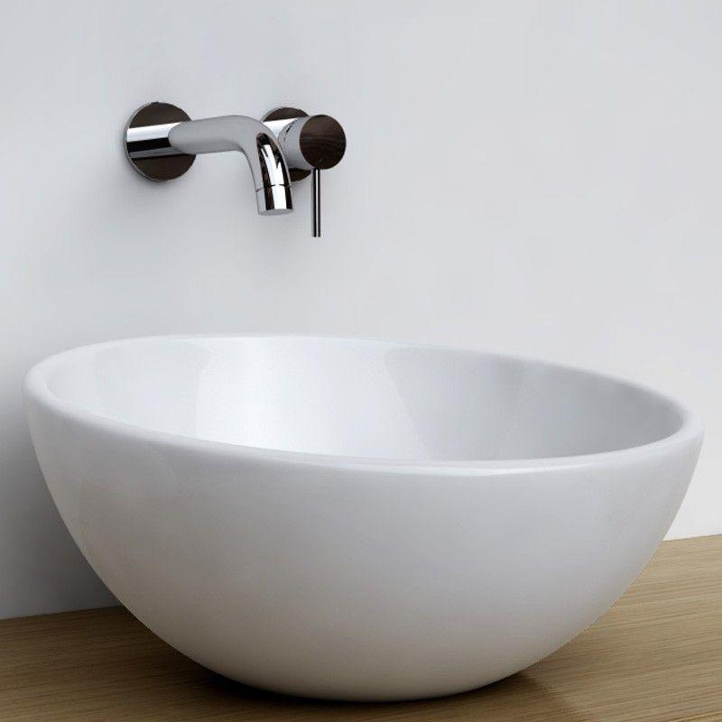 Vasque à poser ronde bol 42 cm céramique, Pure