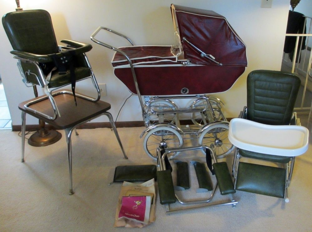 Merveilleux Vintage Babyhood Baby Carriage Buggy Stroller By Wonda Chair Complete Set  #BABYHOOD