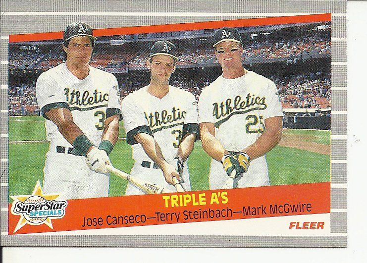 jose canseco baseball card fleer