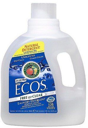 Ecos Free And Clear Natural Liquid Laundry Detergent 100oz Right