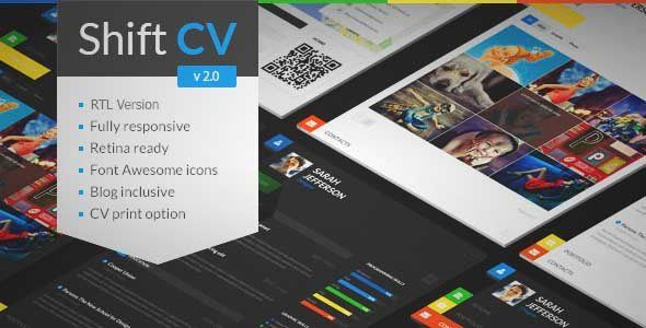 Download and review of ShiftCV - Blog Resume Portfolio WordPress - wordpress resume template