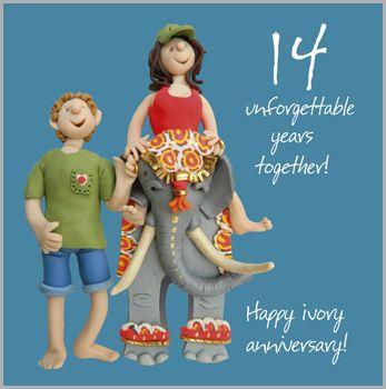 14th Wedding Anniversary Card 14th Wedding Anniversary 14th Anniversary Gifts 14th Anniversary