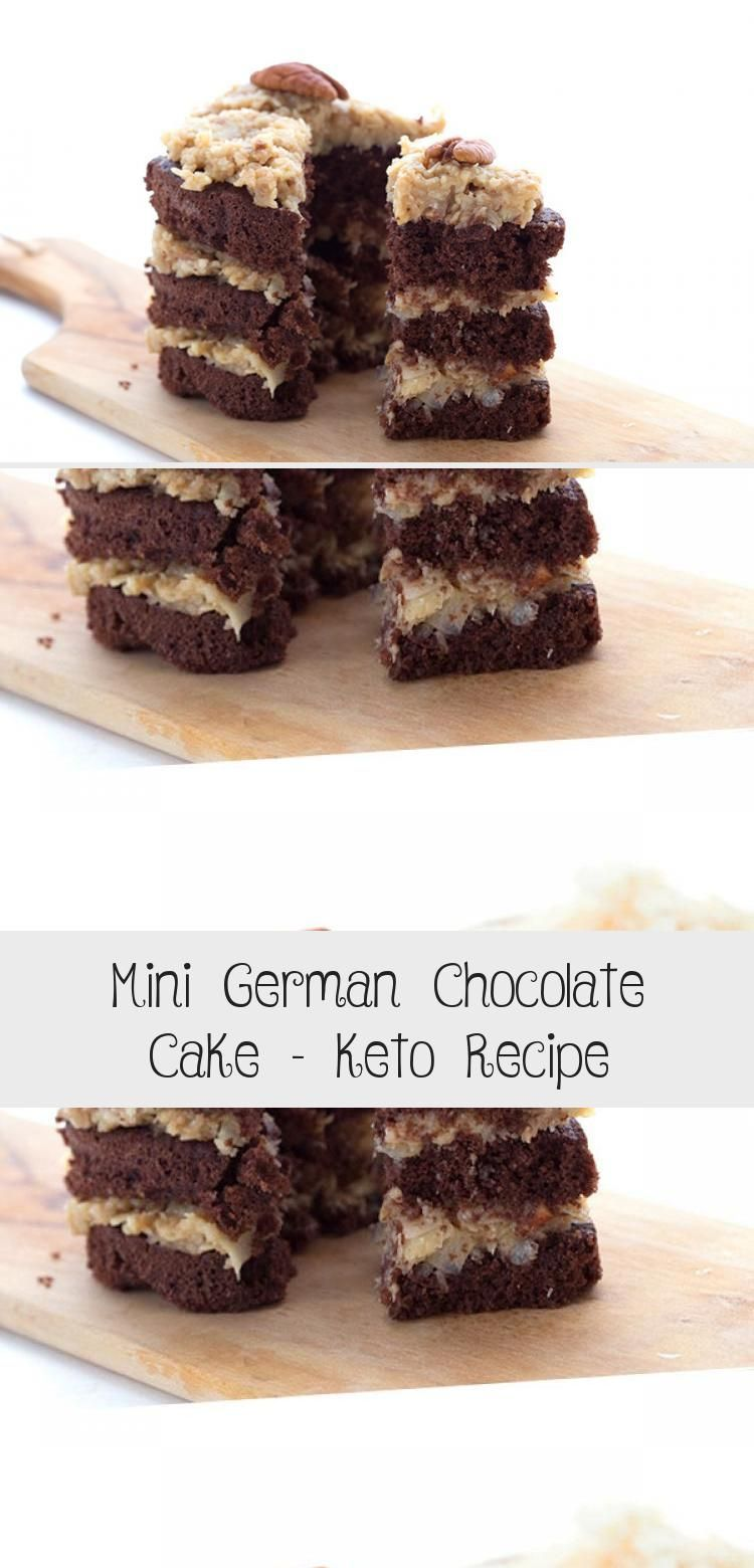 Mini german chocolate cake keto recipe cake in 2020
