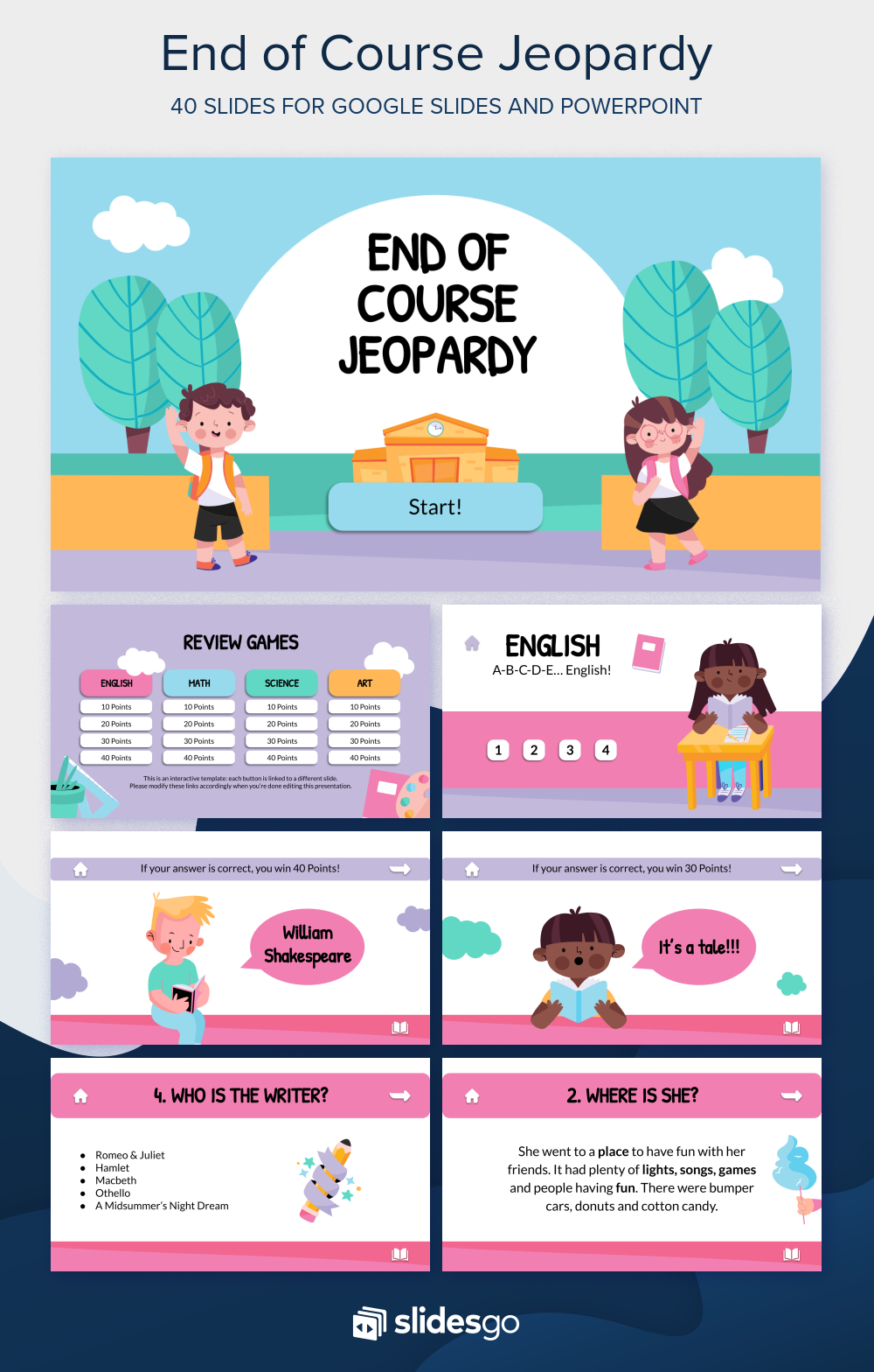 Download Our Interactive End Of Course Jeopardy Template And Make Learning F Powerpoint Slide Designs Free Powerpoint Presentations Powerpoint Design Templates