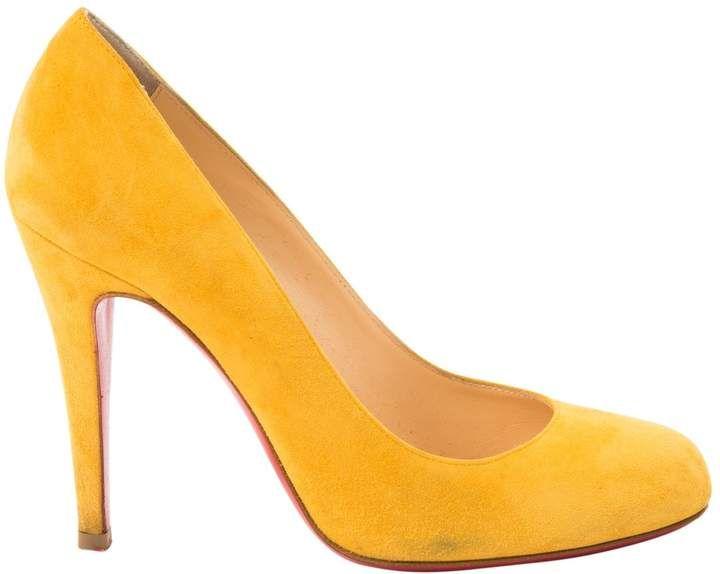 half off d816a 48546 Heels | Products | Christian louboutin heels, Heels, Suede heels