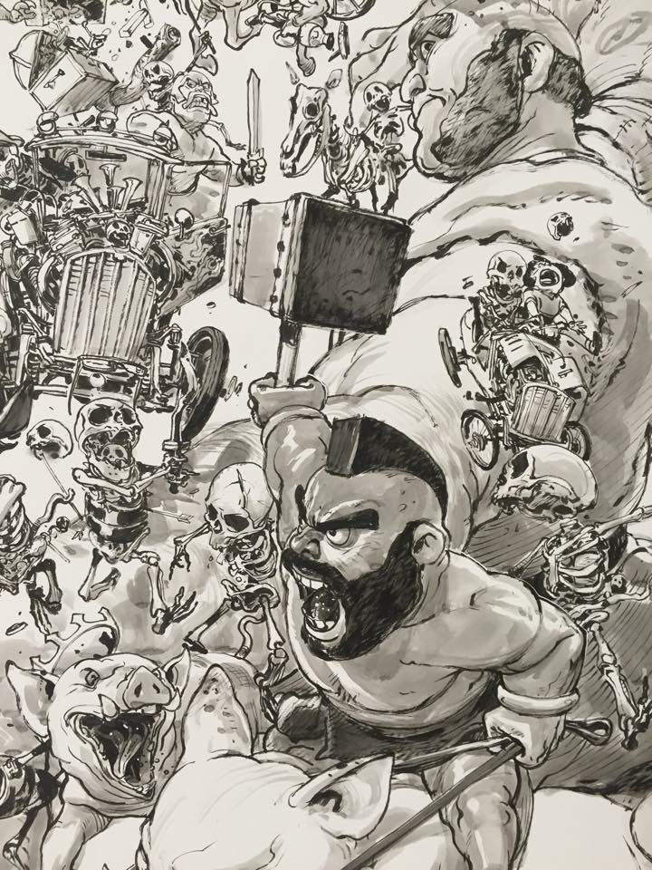 Kimjunggi Clashofclans Coc Arttoyculture Drawing Illustration