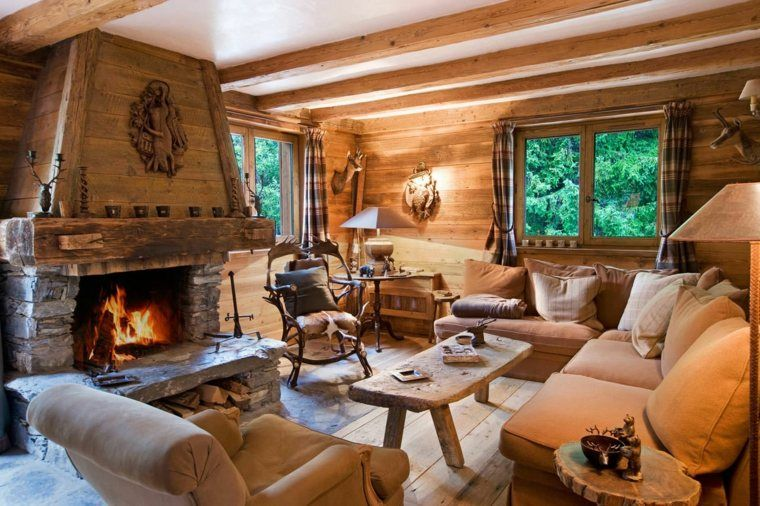 D coration int rieur chalet montagne 50 id es inspirantes chalet montagne chalet et tables for Interieur chalet montagne photo