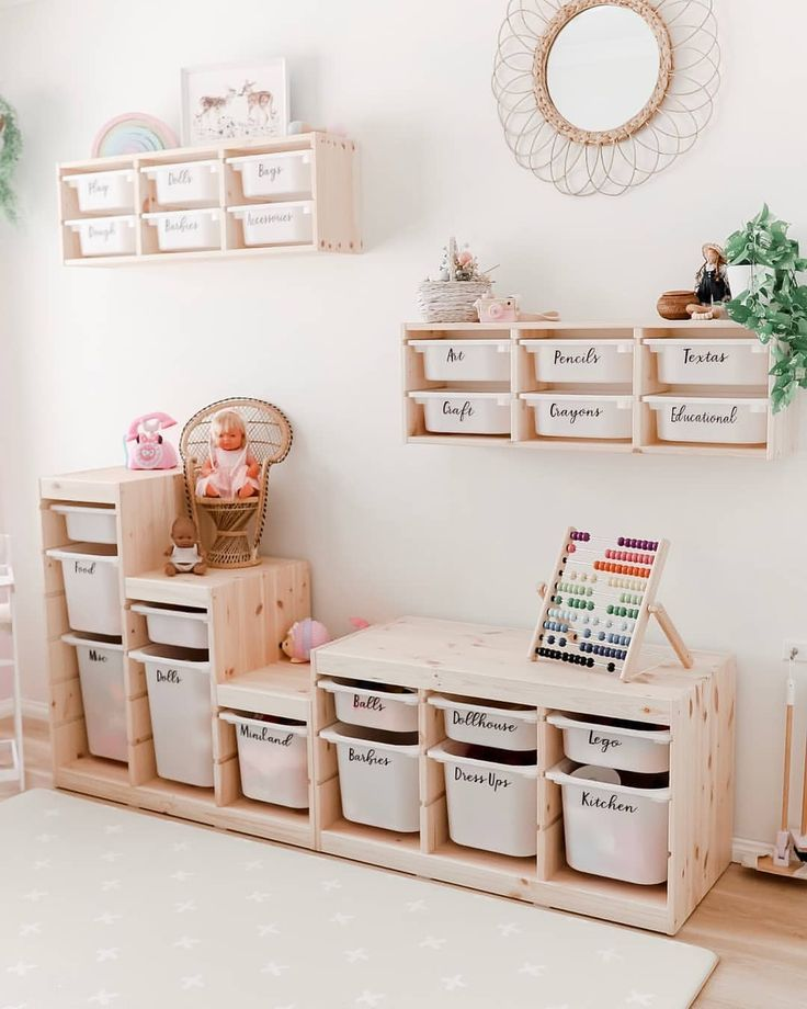 "NEW CONTENT COMING SOON on Instagram: ""PLAYROOM GOALS. With some good storage tubs and labels your playroom will always be organised and working efficiently. Rather than messy…"""