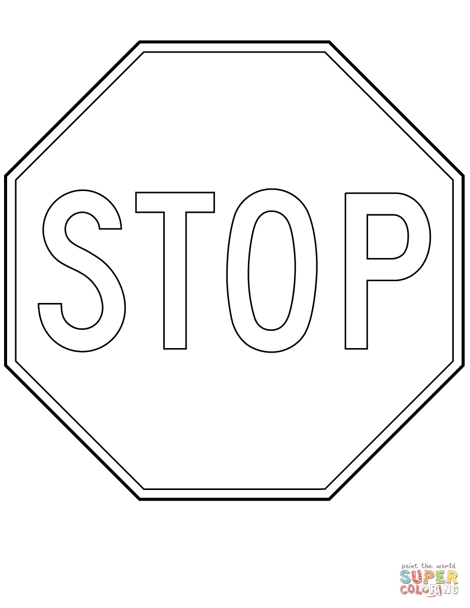Canada Stop Sign Super Coloring Printable Signs Free Free Printable Coloring Sheets Free Printable Coloring Pages