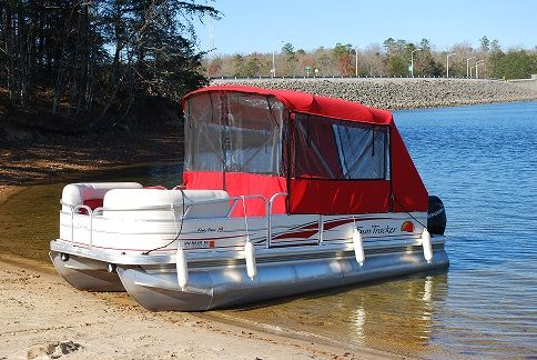 Pontoon boat enclosures | Our new boat | Fishing pontoon