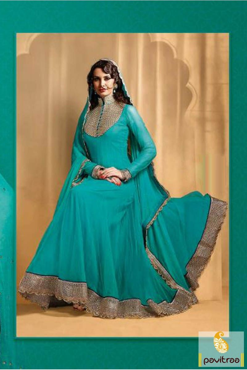 Pavitraa Turquoise Floor Length #Bridal #Anarkali #Salwar Suit Rs ...
