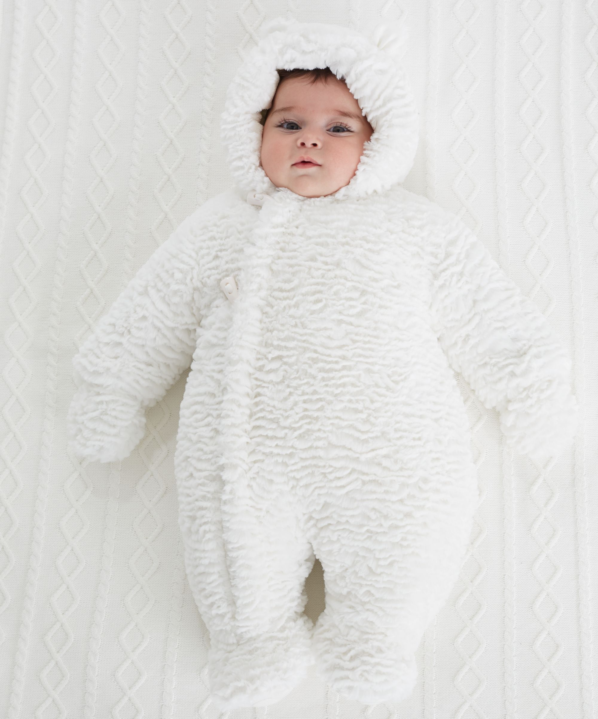 It s so fluffy I m gonna Gorgeous newborn baby snowsuit