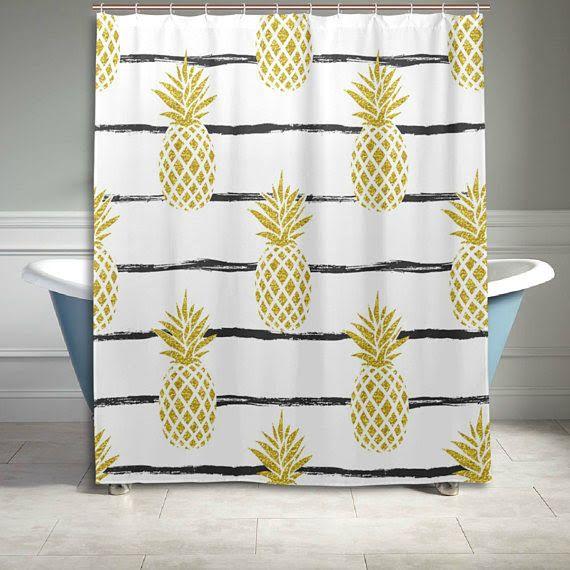 Pineapple Bathroom Decor Bathroom Decor Pineapple Shower Curtain Decorative Sofa Pillows