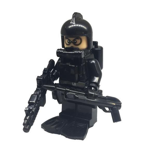 Black Pilot Helmet for LEGO army military brick minifigures