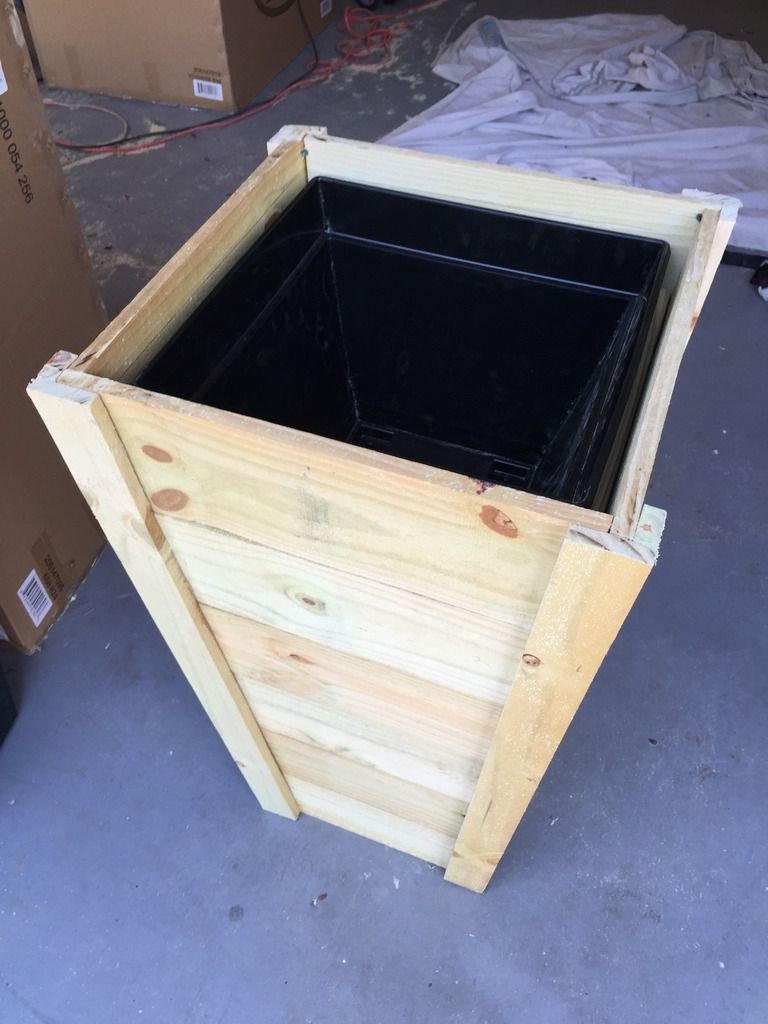 how to build your own tall outdoor planter boxes. Black Bedroom Furniture Sets. Home Design Ideas