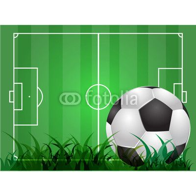 Green Soccer Background Illustration By Xtremelife Royalty Free Vectors 52917103 On Fotolia Com