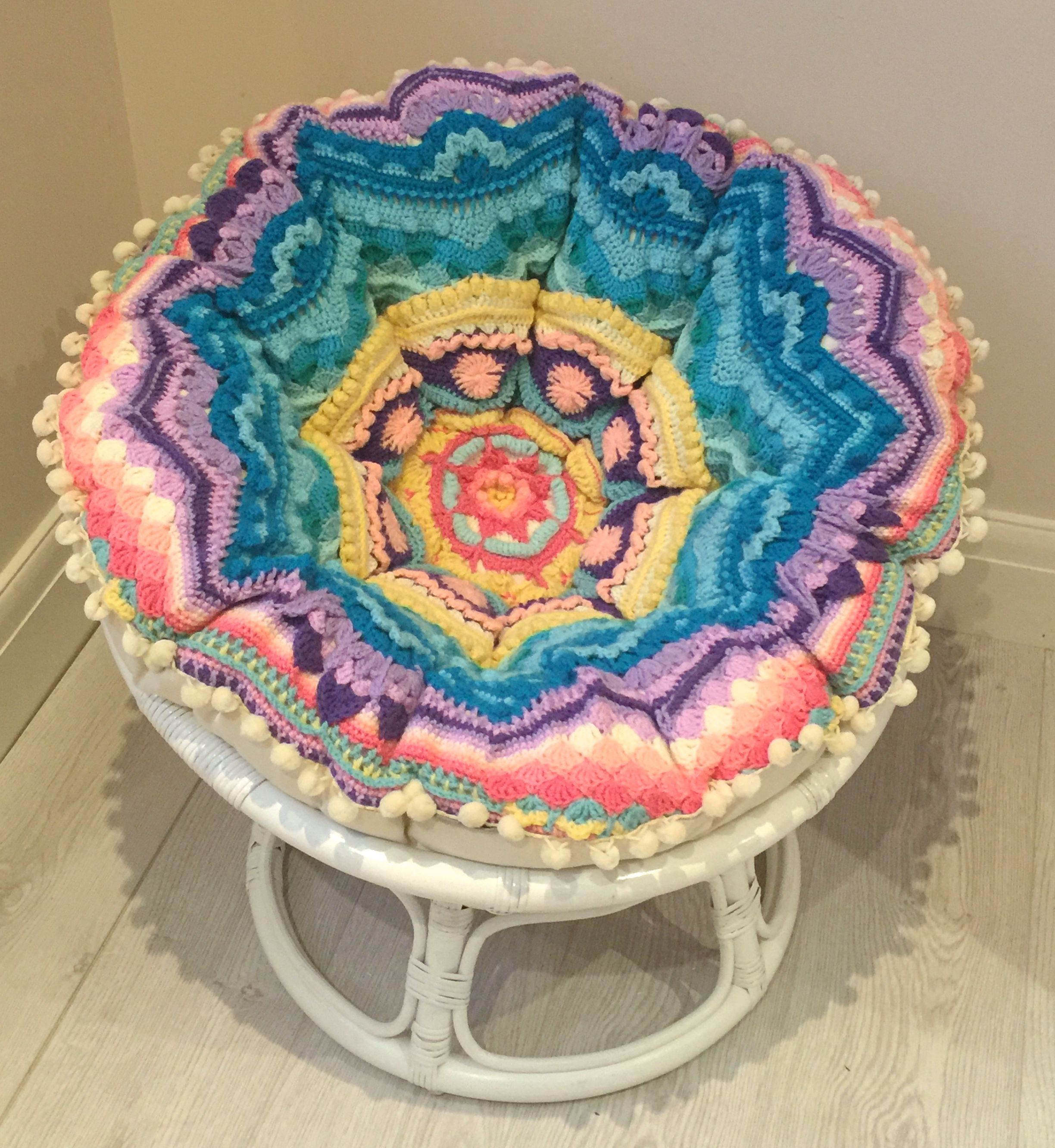 Mini Papasan Chair  Mandala Crochet 16500 Wwwpapasanchaircouk