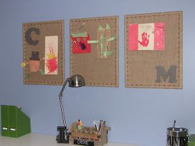 Clean & Scentsible: Burlap Bulletin Boards