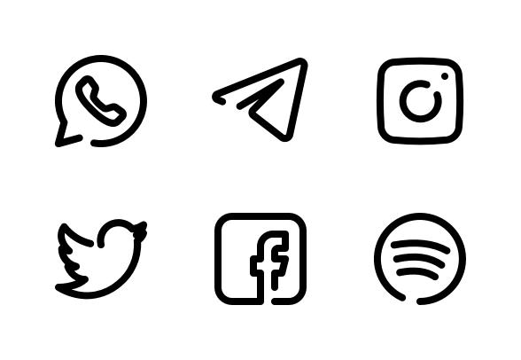 Eon Social Media Contact Info Icons By Bombasticon Studio Social Media Social Media Icons Instagram Logo