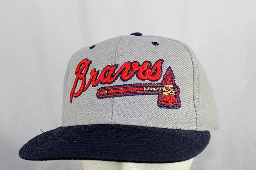 Atlanta Braves Baseball Hat Gray Blue Snapback Drewpearson Baseballcap Atlanta Braves Baseball Baseball Hats Braves Baseball