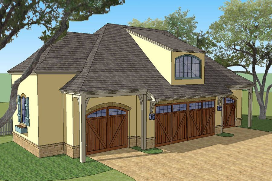 New South Classics Carriage House 4 Car Barns