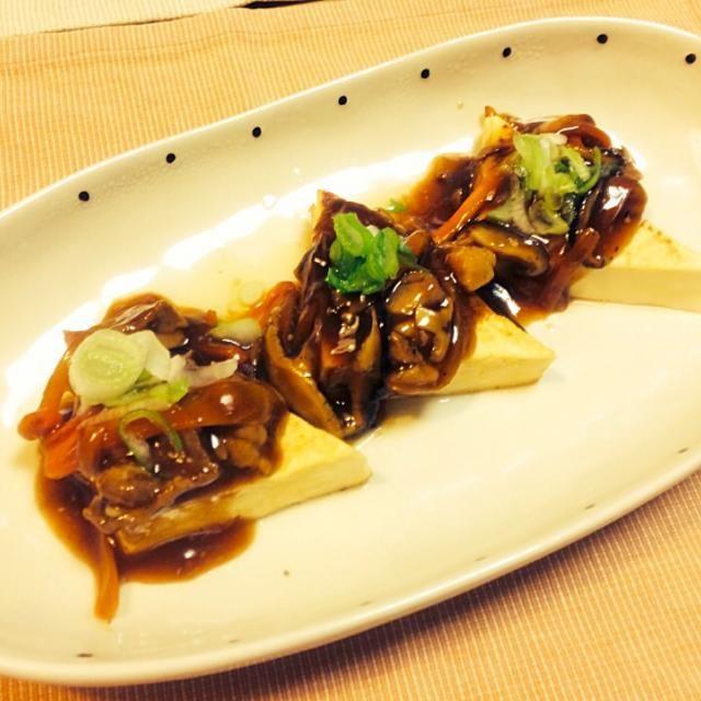 簡単!即座おつまみに☻ັ - 230件のもぐもぐ - *バター風味の和風きのこ豆腐ステーキ** by chocoaya