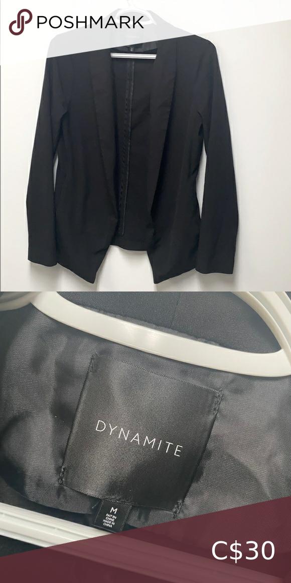 Dynamite Black Blazer