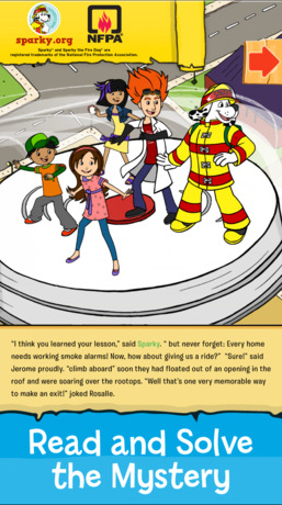 Download Sparky the Fire Dog's new free app and let your