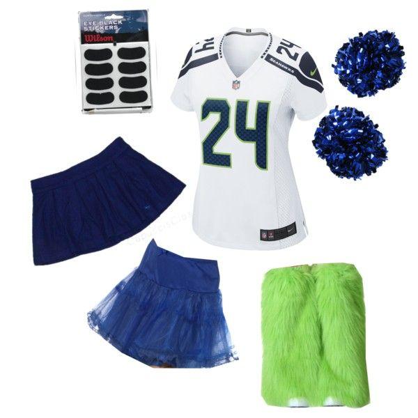 673862d81 Women s Sexy Seattle Seahawks Cheerleader Fan Halloween Costume