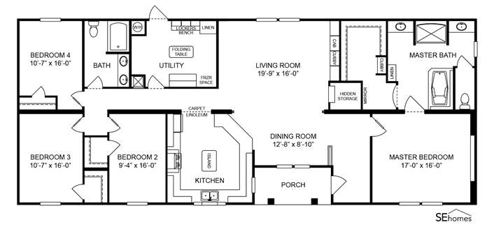 Clayton Homes Home Floor Plan Manufactured Homes Modular Homes Mobile Home Nice Utilit Manufactured Homes Floor Plans Mobile Home Floor Plans House Plans