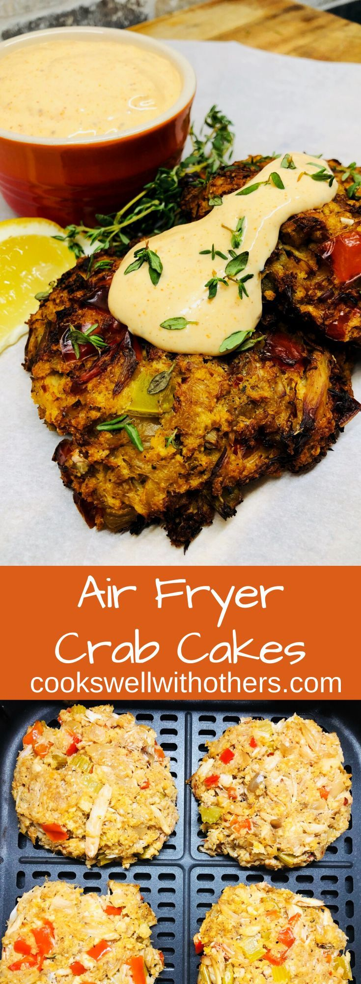 Air fryer crab cakes seafood recipes crab cakes food
