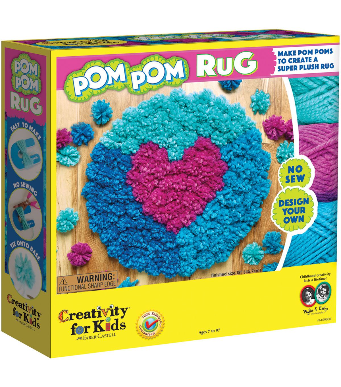 Creativity For Kids Make Your Own Pom Rug Kit