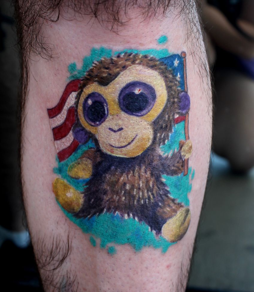 Cartoon tattoo designs on shoulder - Monkey Tattoos For Women Monkey Tattoos Designs And Ideas Cartoon