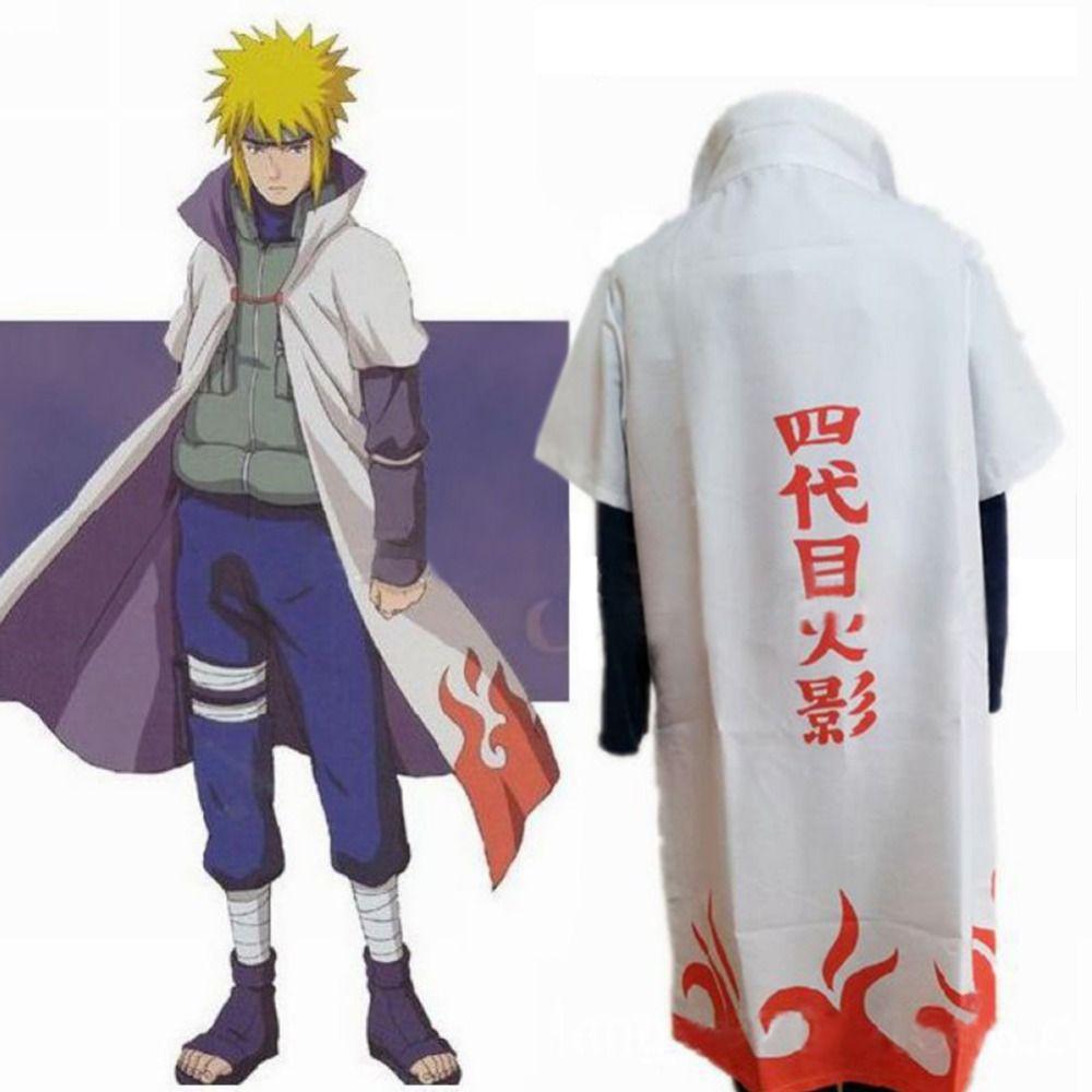 Naruto Anime Cosplay Costume Fourth Hokage Namikaze Minato Cape Cloak Outfit