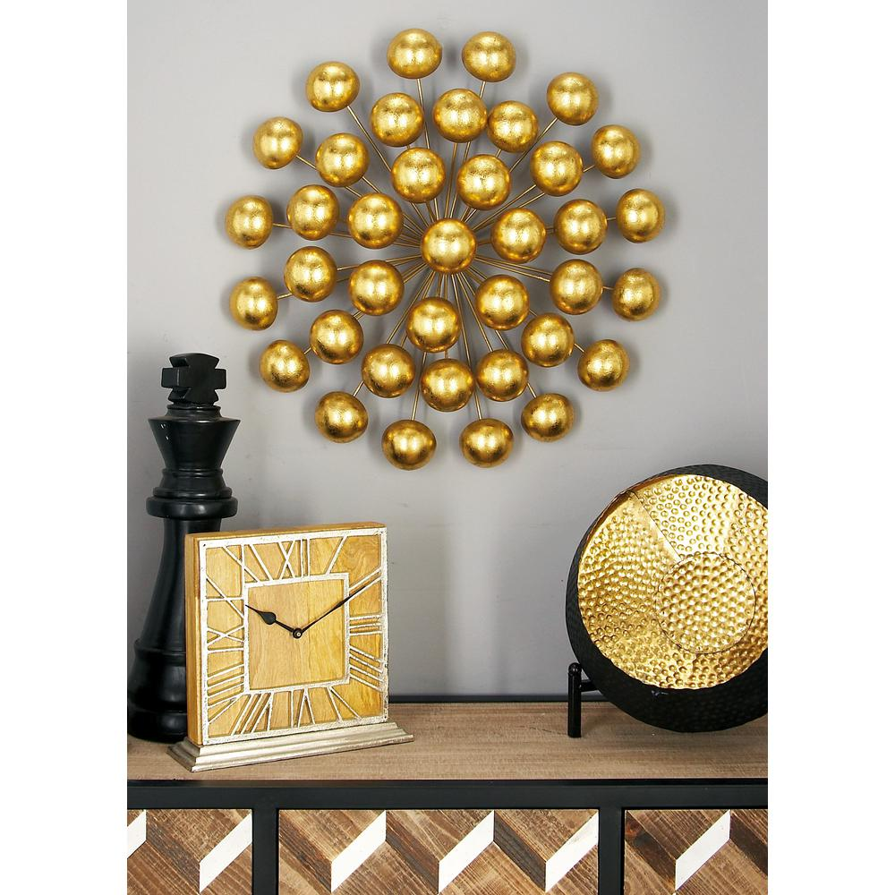 Litton Lane Modern Iron Gold Finished Ball Burst Wall Decor 48632 The Home Depot Modern Wall Decor Plate Wall Decor Copper Wall Decor