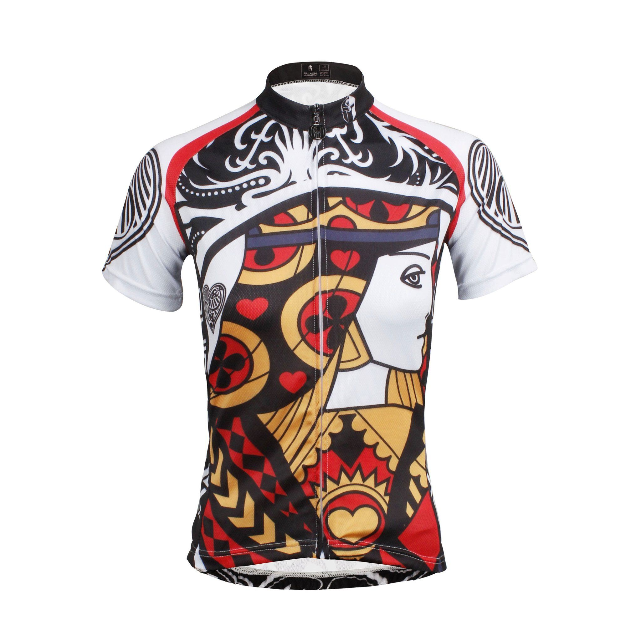 ILPALADINO Poker Face Playing Card Diamonds King Spades Jack Club Queen  Heart Queen --Short-sleeve Men s.Woman s Cycling Suit Jersey -- Apparel  Road Riding ... 469045b66