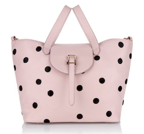 a9b7f07295315 Pink tote with dots.    Thela dusty pink dotty New in    meli melo