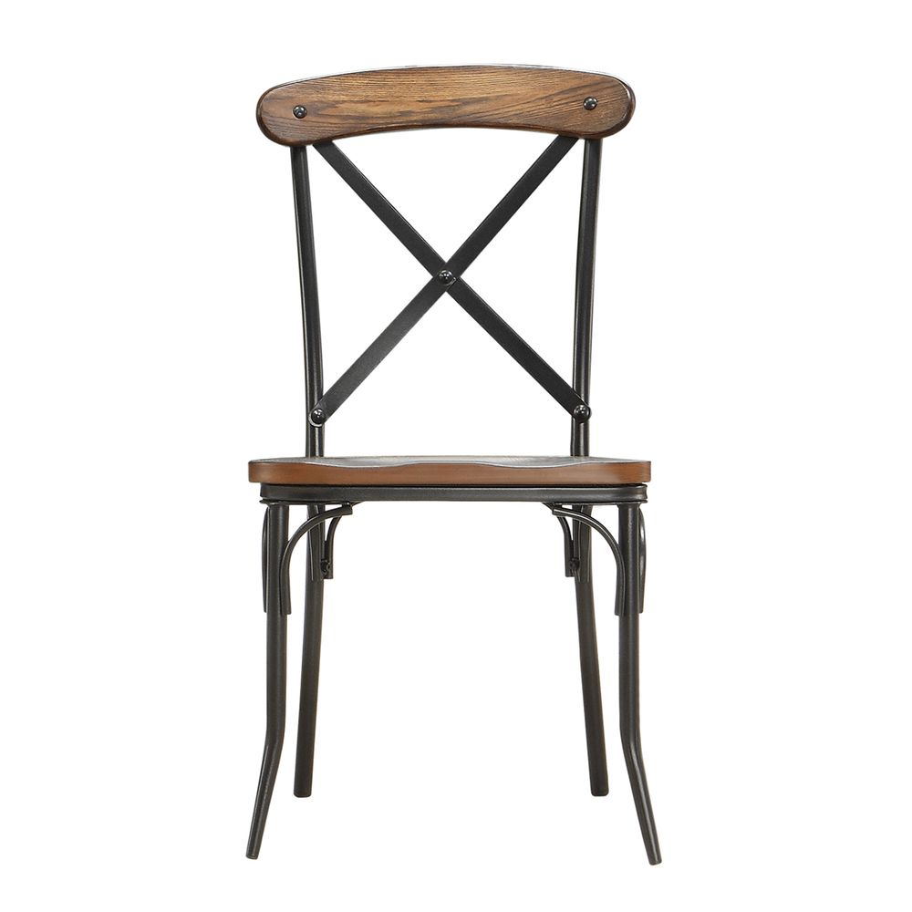 INSPIRE Q Nelson Industrial Modern Rustic Cross Back Dining Chair (Set of  2) -
