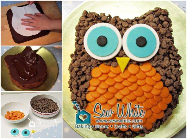 owl cake Owls Pinterest Owl cakes Cake and Birthday cakes