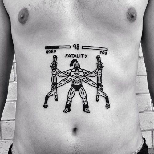 Goro wins. Done at @akaberlin Berlín. IBIZA at Eterno Tattoo...
