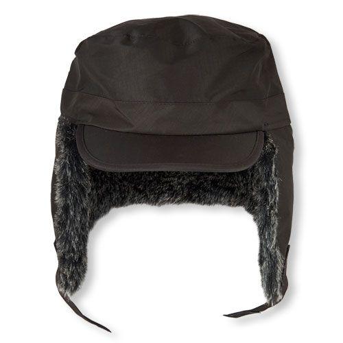 a298054eae94 Boys Boys Faux Fur Trapper Hat - Black - The Children s Place