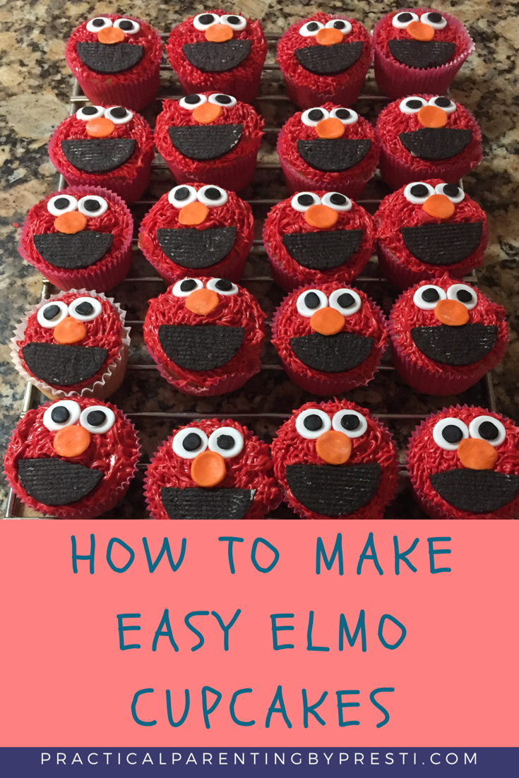 Cool How To Make Easy Elmo Cupcakes With Images Birthday Cupcakes Funny Birthday Cards Online Bapapcheapnameinfo