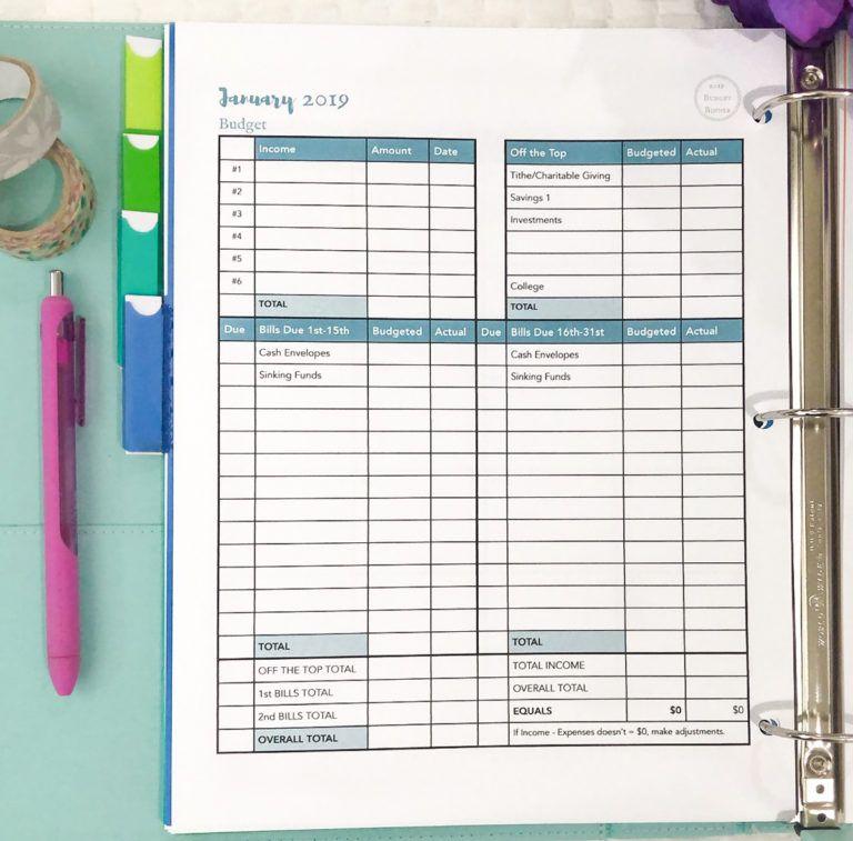 Creating Your 2019 Budget Binder Budget Binder Budgeting
